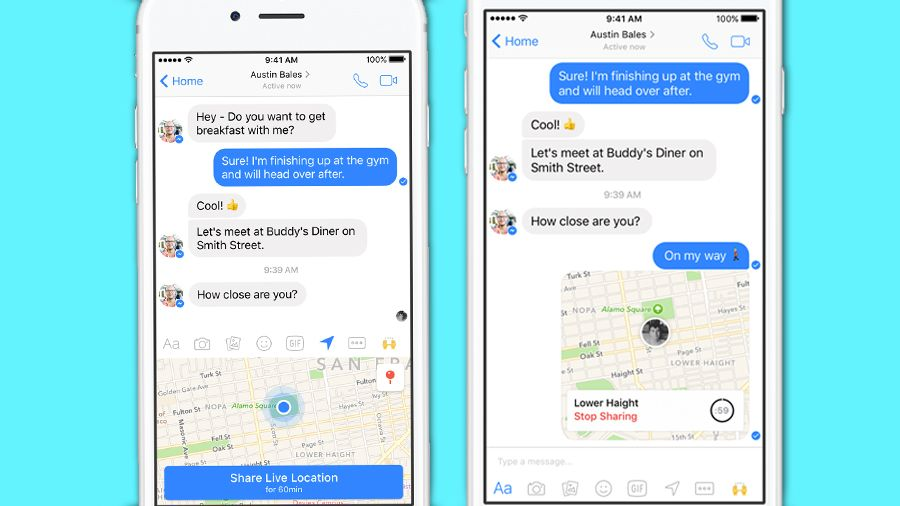 Facebook Messenger now lets you share your live location with friends
