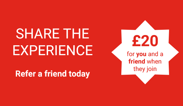 Refer a friend today and get £20 credit!