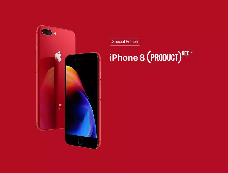 iPhone 8 range now available in RED